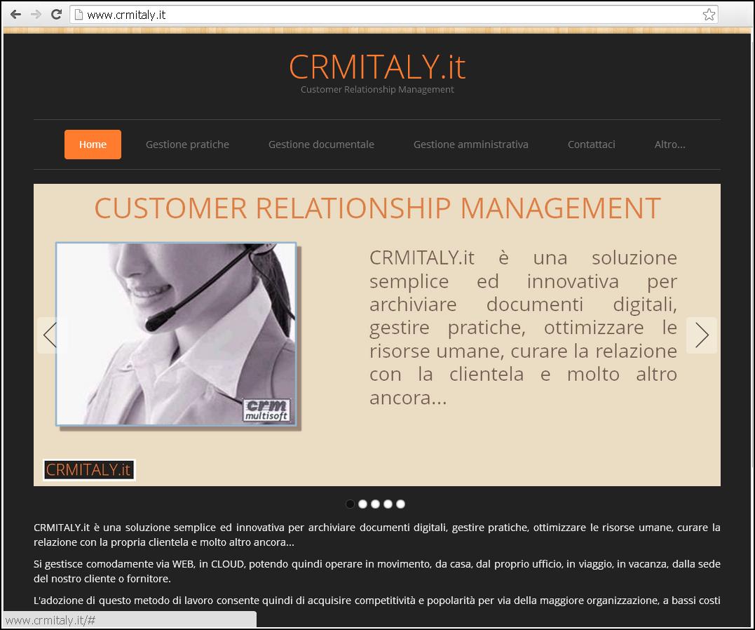 Screenshot nuovo sito